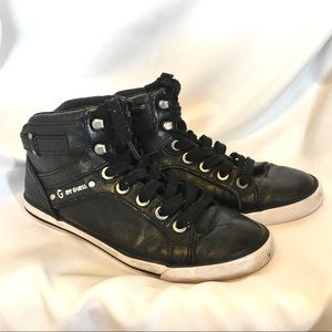 Guess WORN Black Hi-Tops